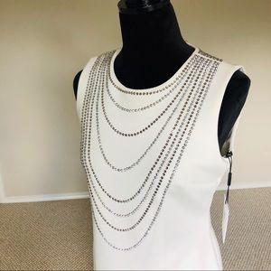 NWT Calvin Klein Sparkle & Shine White Dress